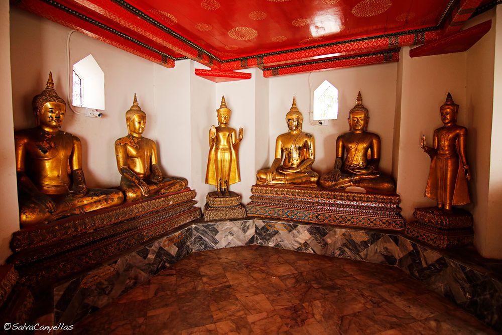 Photo in Travel #wat pho buddhist temple #wat phra chetuphon #statues #buddha #sitting #lotus #bangkok #thailand