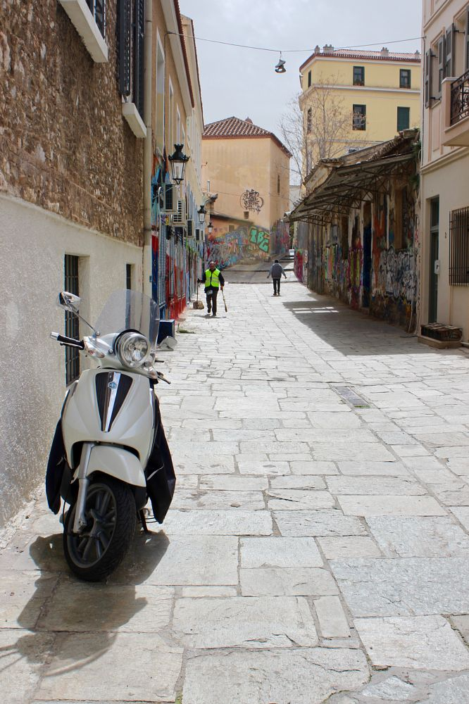 Photo in Travel #city #cityscape #travel #athens #greece #local #street #streetphotography #moped #composition