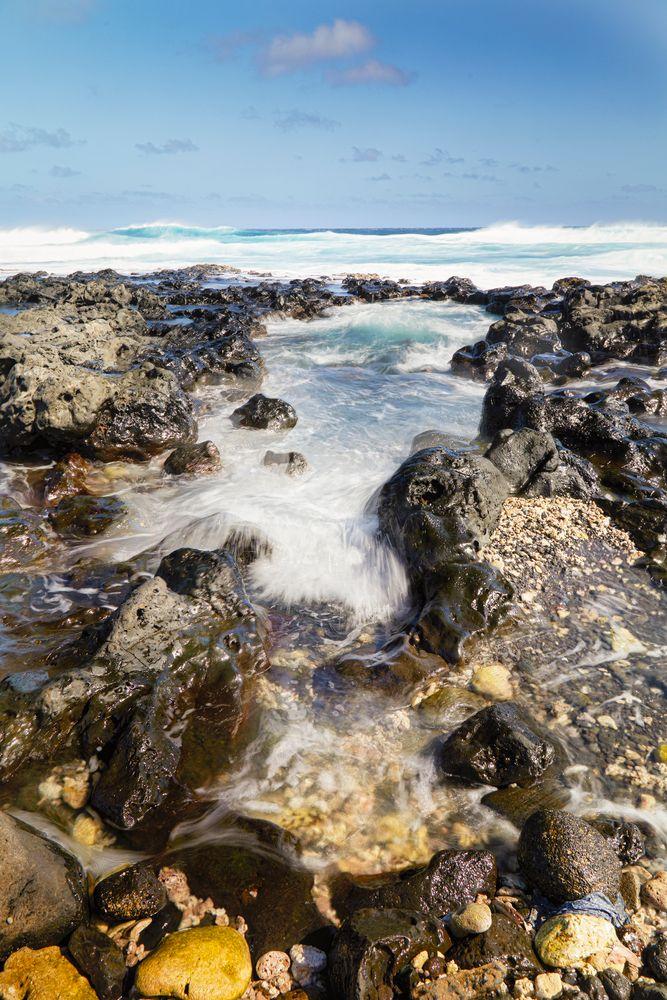 Photo in Landscape #pool #hole #water #indian ocean #ocean #sea #long exposure #composite #stones #sky #corails #colors #rocks #travel #landscape #seascape #réunion #france #island