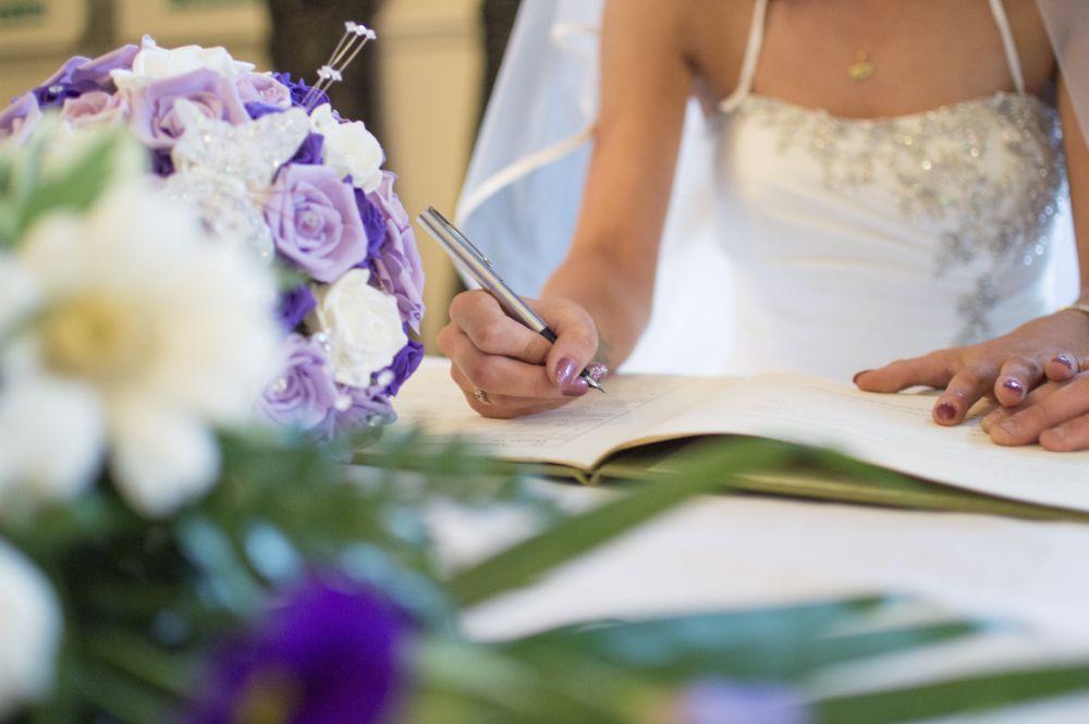 Photo in Wedding #wedding #bride #groom #signing