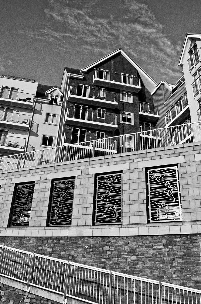 Photo in Landscape #beach #pier #buildings #black & white #boscombe #bournemouth