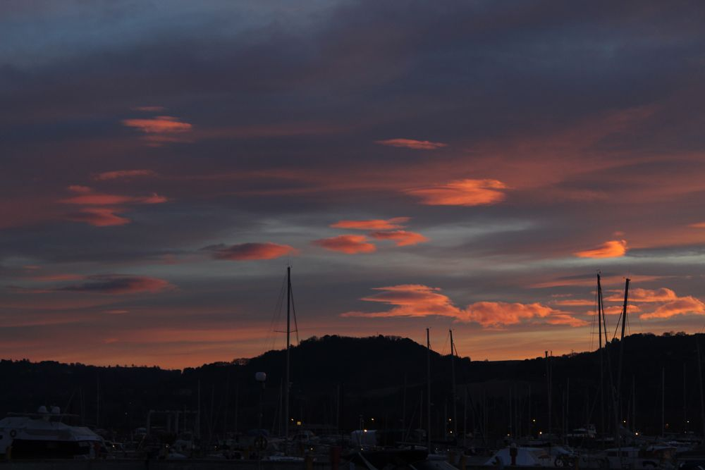 Photo in Landscape #sunset #photo #sky #clouds #colors #pink #boats #port #photographer #photography #landscape