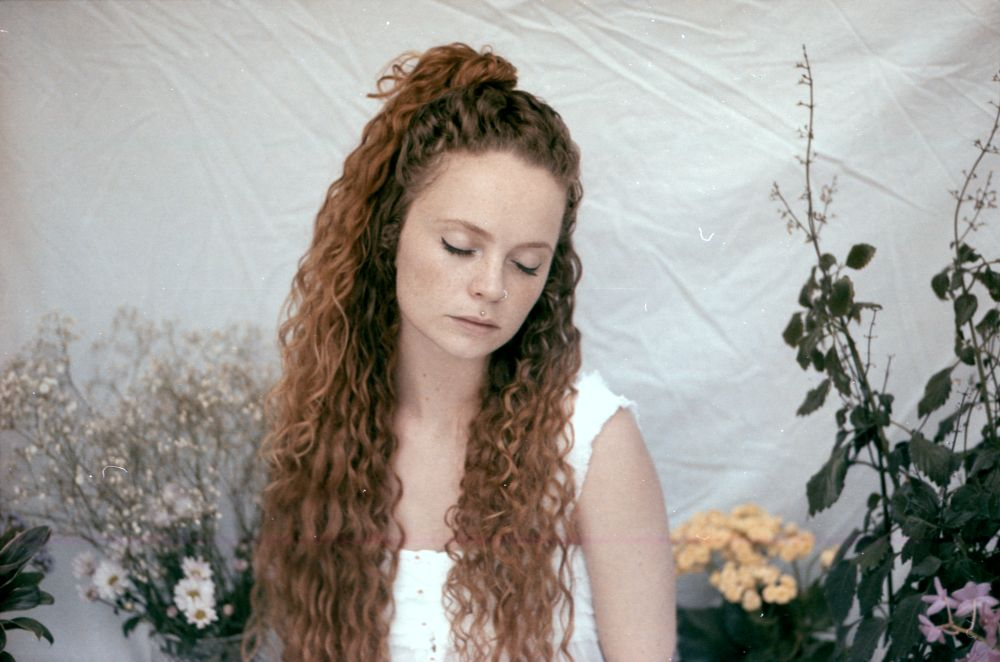 Photo in Film #flowers #portrait #girl #hair #delicate #35mm #film