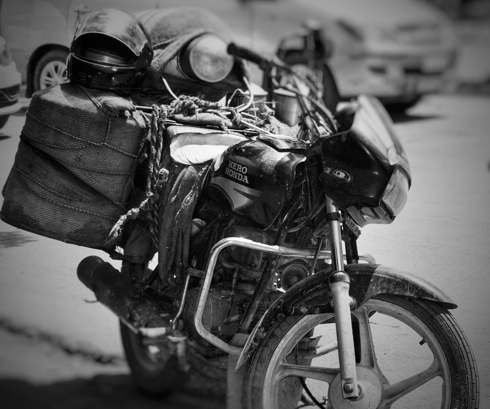 Photo in Street Photography #milk #bike #india #morning #streetphotography