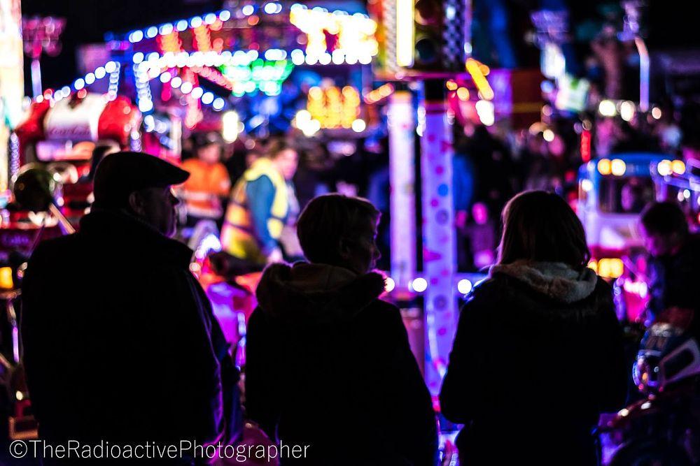 Photo in Travel #waiting #line #parent #parents #fate #fair #funfare #fun fair #rides #neon #night #night photography #bokeh #night life #colourful #lights