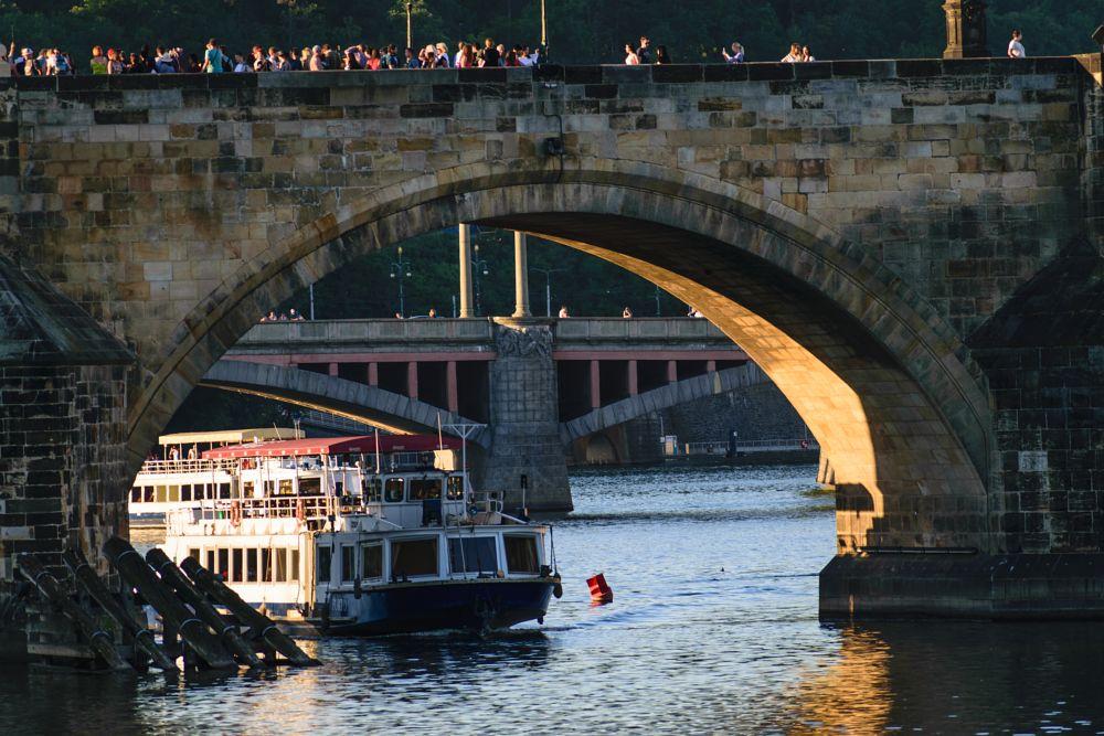 Photo in Cityscape #prague #river #charles bridge #boat #cruise