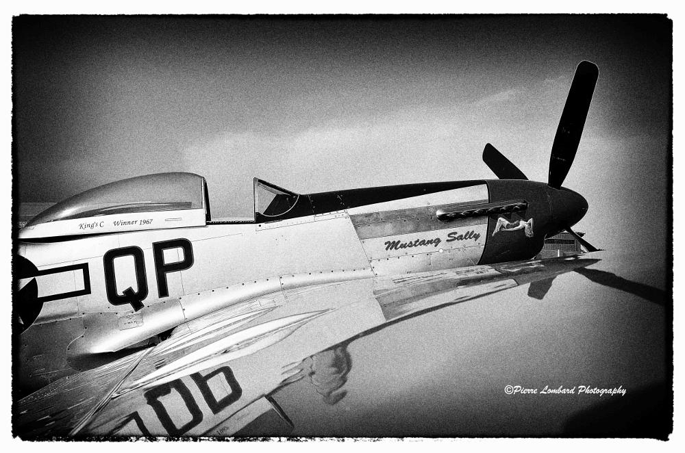 Photo in Black and White #ww11 fighter #plane