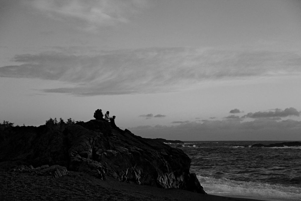 Photo in Sea and Sand #black and white #sea and sand #peopl