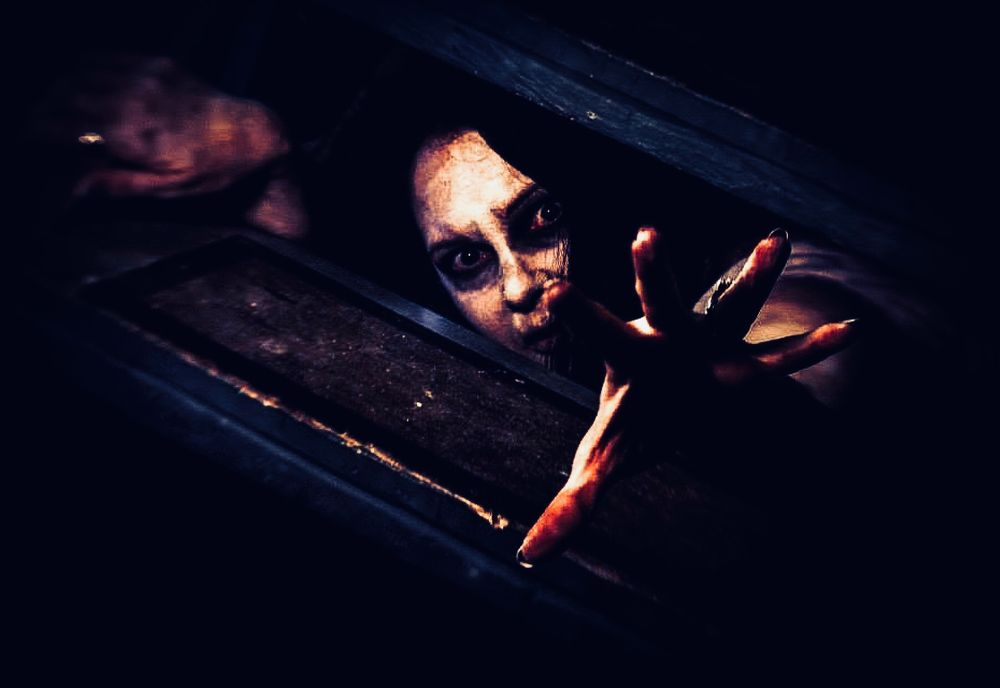 Photo in People #horror #halloween #macabre #cosplay #evil #undead #witch #demon #possessed #possession #makeup #femme #lady #woman #girl #dungeon #basement #creepy #creep #weird #goth #gothic #asylum #insane #disturbing #mental #hand #dead