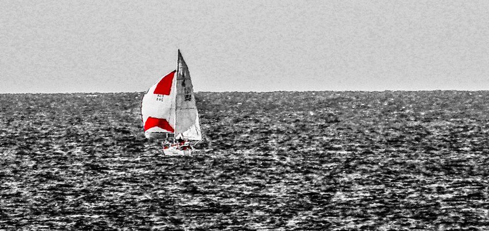 Photo in Sea and Sand #seascape #boat #sailing #sailboat #ocean #summer