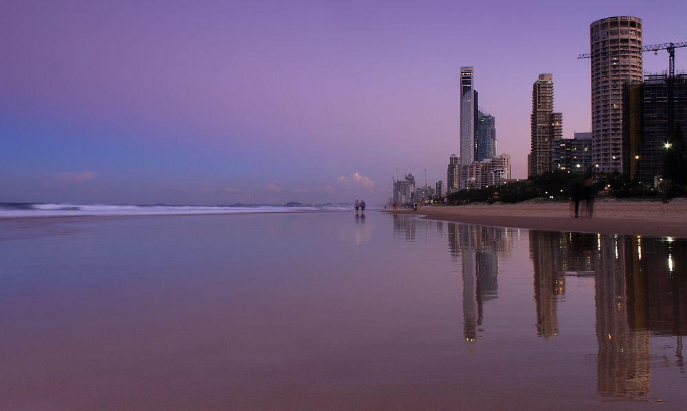 Photo in Cityscape #sunset #twilight #surfers paradise #landscape #cityscape