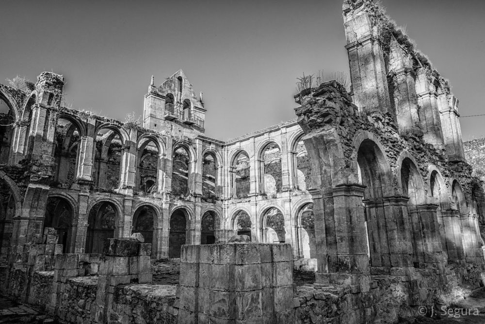 Photo in Architecture #monasterio #monastery #b&w #blackandwhite