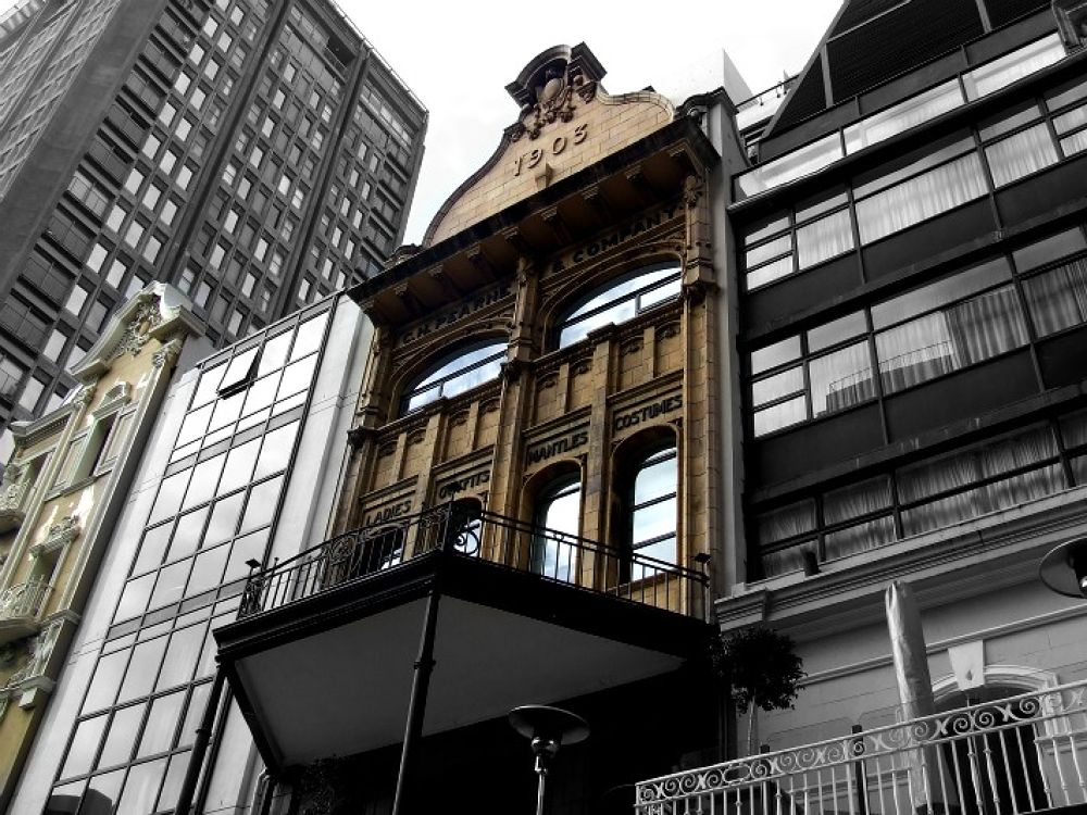 Photo in Cityscape #old buildings #city #vintage #black and white #cape town