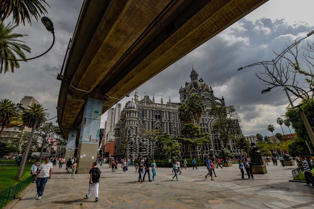 Photo in Street Photography #streetphotography #church #metro #plaza #colombia #medellin
