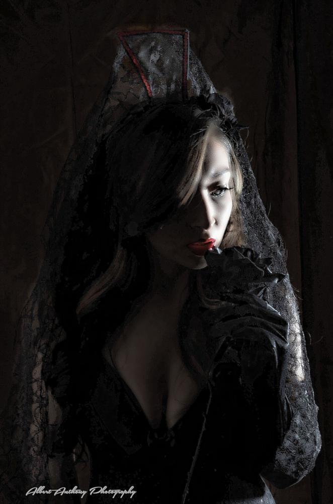 Photo in Fashion #black rose #model #lingerie #darkness #art