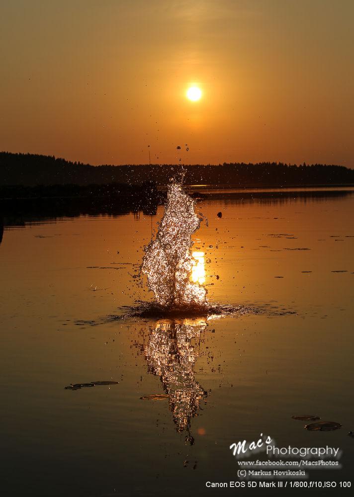 Photo in Nature #ypa2013 #nature #finland #sunset #artistic #water #splash #canon #eos5d #mark iii #macsphotography #canon eos 5d mark iii #hovikoski