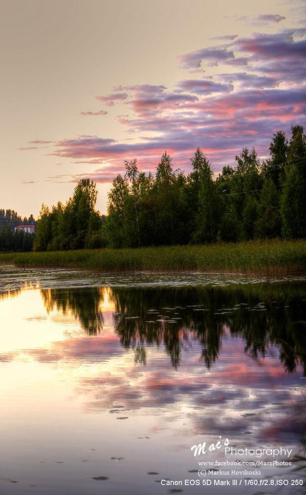 Photo in Random #hdr #lake #water #reflection #sunset #finland #nature #canon #eos 5d #mark iii #canon eos 5d mark iii #ypa2013 #hovikoski