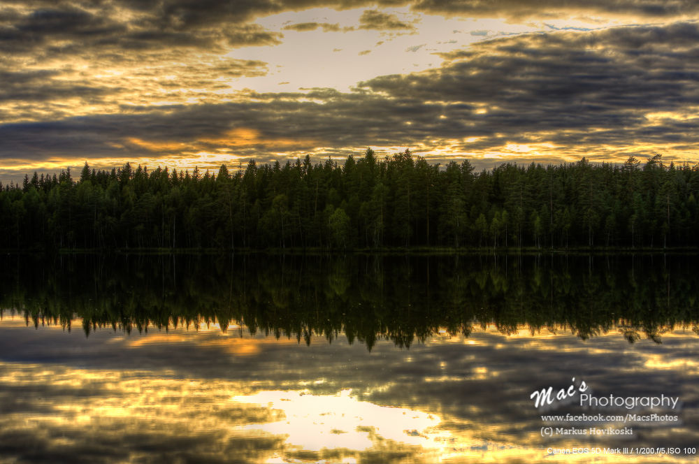 Photo in Random #hdr #sunset #lake #water #reflection #clouds #landscape #canon #eos 5d #mark iii #canon eos 5d mark iii #macsphotography #finland #ypa2013 #hovikoski