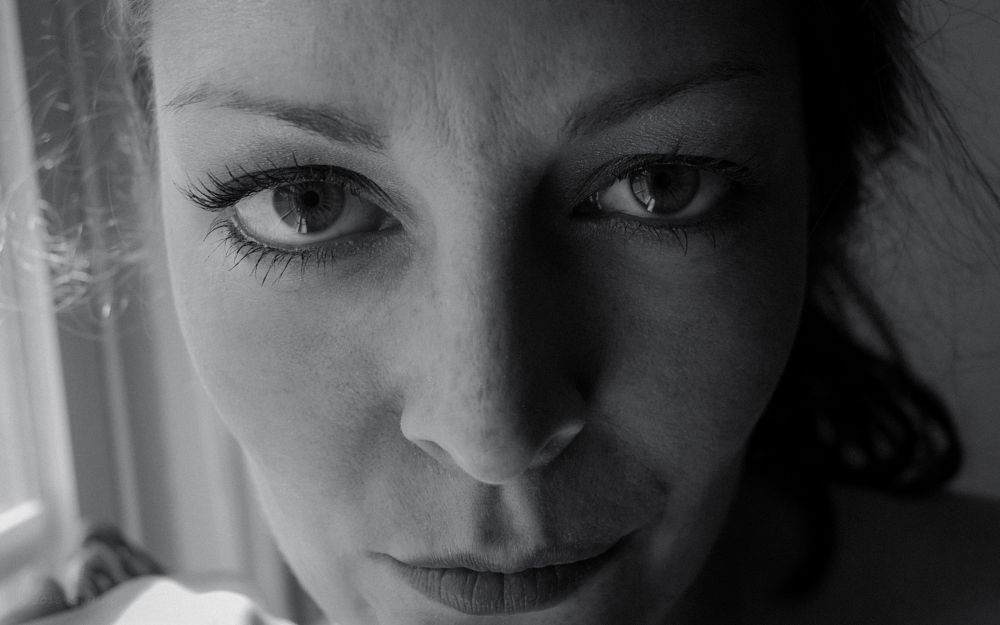 Photo in Portrait #katie may #models #black and white #monochrome #face #eyes