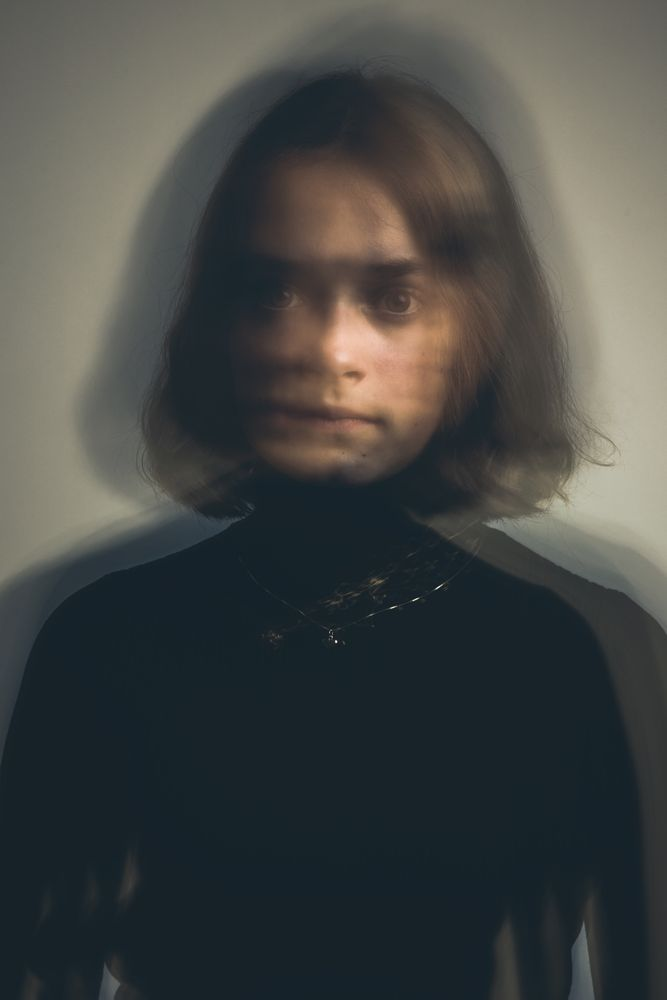Photo in Portrait #portrait #model #girl #woman #bokeh #motion #longexposure #studio #lights #shadows #mystic #finland