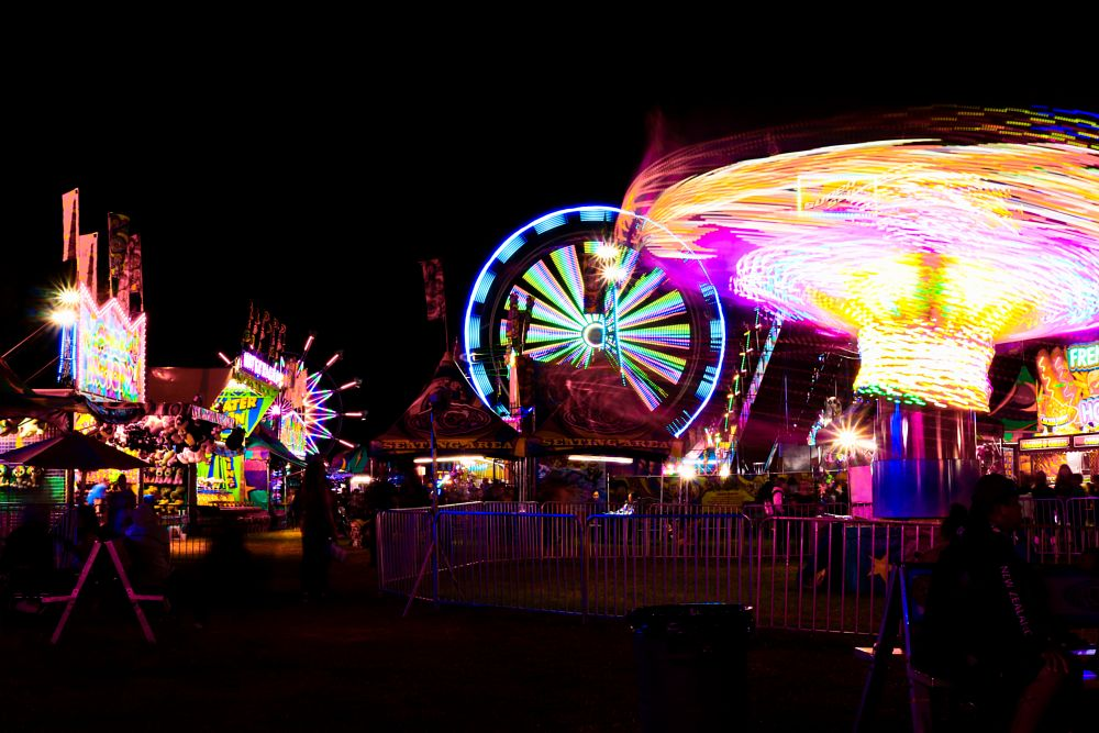 Photo in Random #rides #fallfair #lights #midway #fair #night #canon