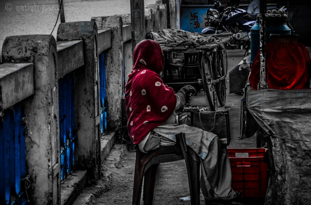 Photo in Street Photography #selective colour #street #poor