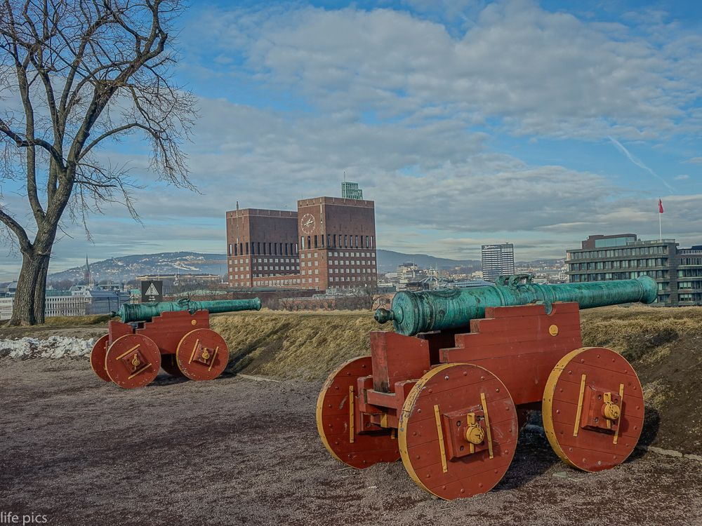 Photo in Cityscape #akershus #architecture #building #cannon #capital #castle #city #cityscape #europe #fort #fortress #historic #history #landmark #medieval #norway #norwegian #old #oslo #outside #scandinavia #town #travel #view #wall