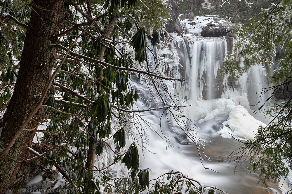 Photo in Random #waterfall #waterfalls #forest #tree #trees #river #creek #stream #long exposure #wild #wilderness #january #2019 #rhododendron #rhododendrons #icicle #icicles #falls #winter #cold