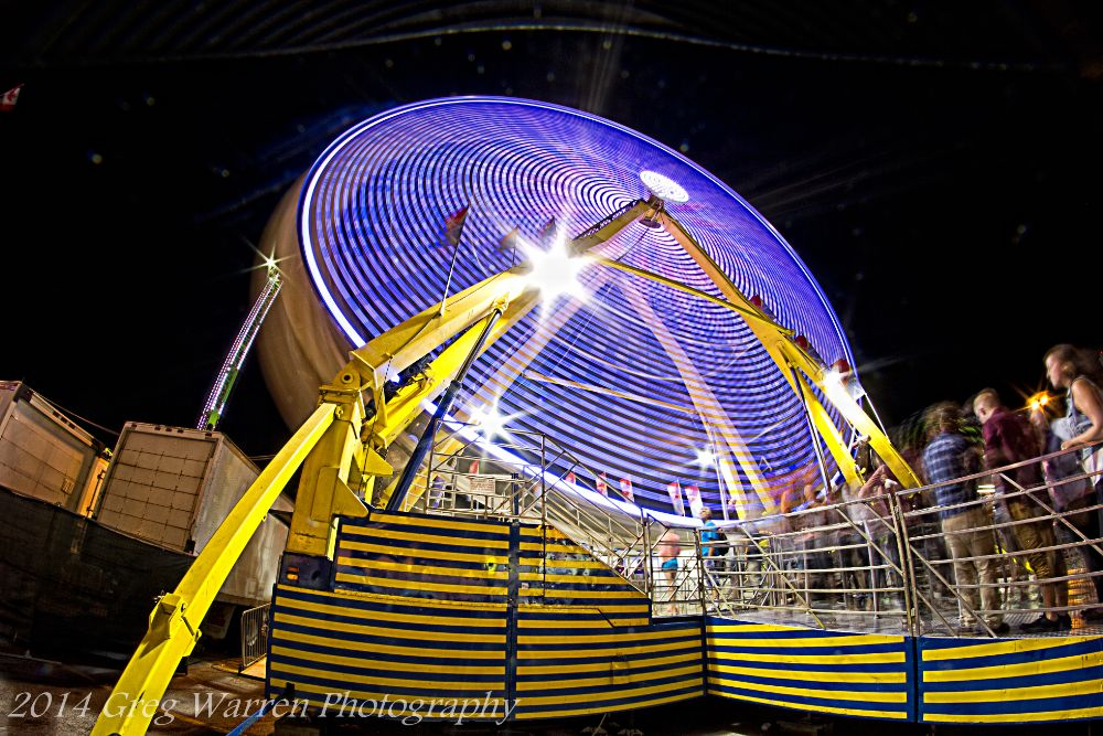 Photo in Abstract #carnival #ferris wheel #long exposure #slow shutter #fisheye