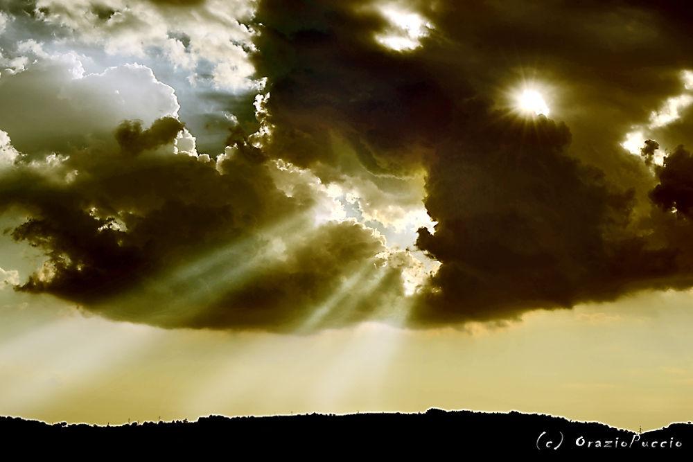 Photo in Landscape #oraziopuccio #sole #nuvole #raggio di sole #panorama #orizzonte