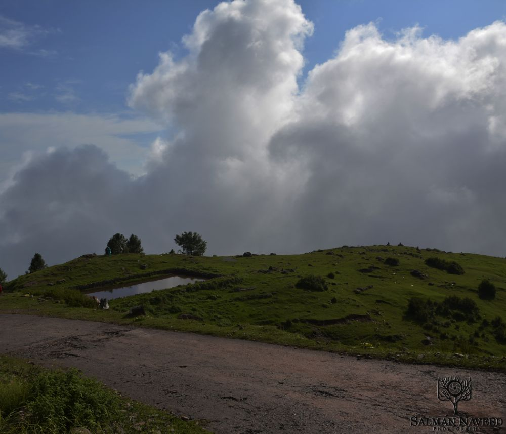 Photo in Landscape #pakistan #pond #water #hill #hill top