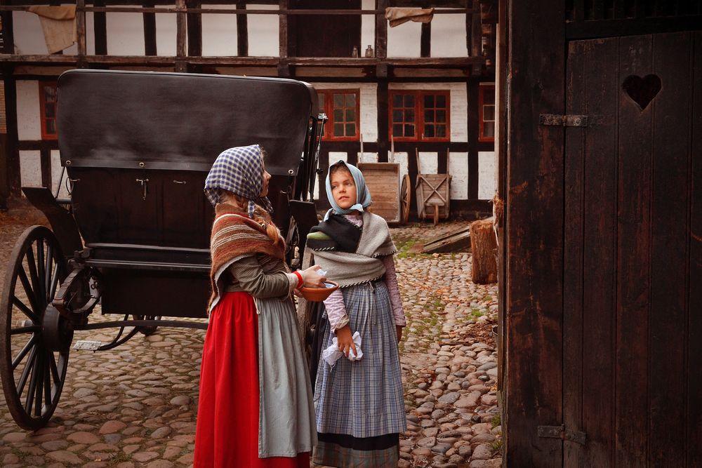 Photo in People #aarhus #denmark #the old town #den gamle by #museum #vintage #history