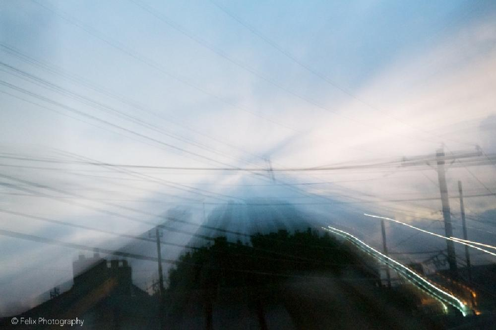 Photo in Urban #felixphotography #nature #outdoors #outside #sunset #beautiful #sky #color #blue #wires #photo