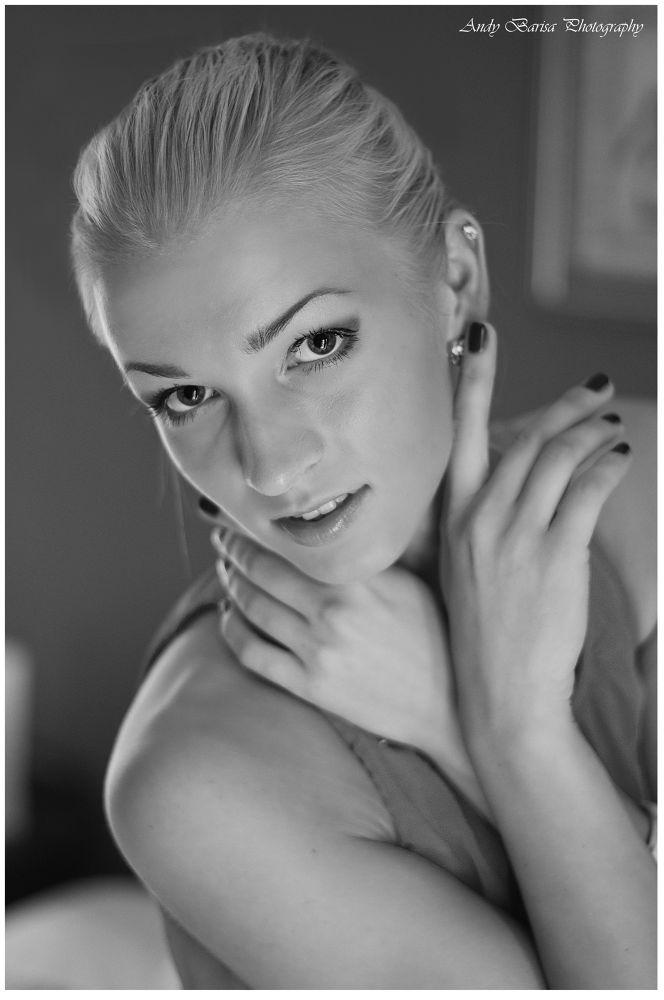 Photo in Portrait #https://www.facebook.com/andyb #andybarisaphotography #andy barisa photography #portrait #black white #silk #face #beauty #godess #dublin
