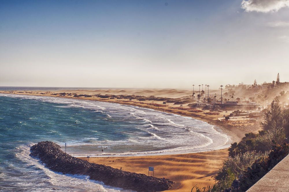 Photo in Landscape #https://www.facebook.com/andyb #andybarisaphotography #andy barisa photography #spain #storm #gran canaria #view #sand #dunnes #sea #ingles #amazing