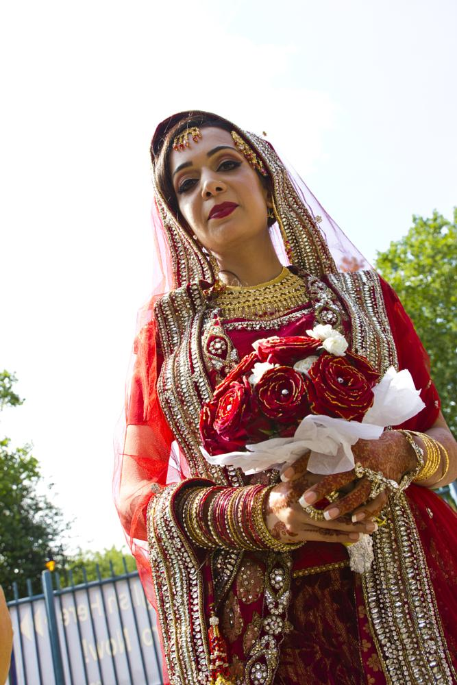 Photo in Wedding #bride #wedding #asian #roses #flowers