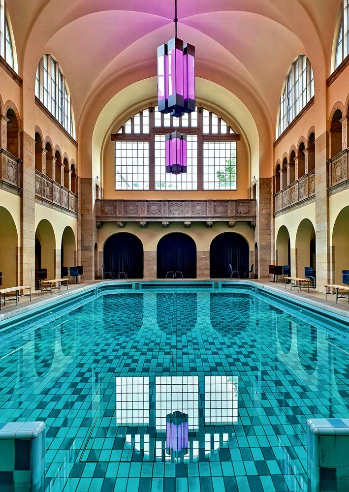 Photo in Architecture #berlin #pool #water #architecture #refection #empty #no people