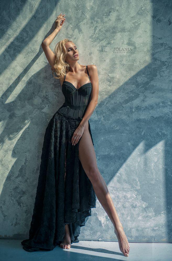 Photo in Fashion #blonde #fashion #beauty #blondeshape #portrait #portraiture #lisgt #jolania #byjolania #warsaw #warszawa #polishphotographer #lace #seduce #blackdress