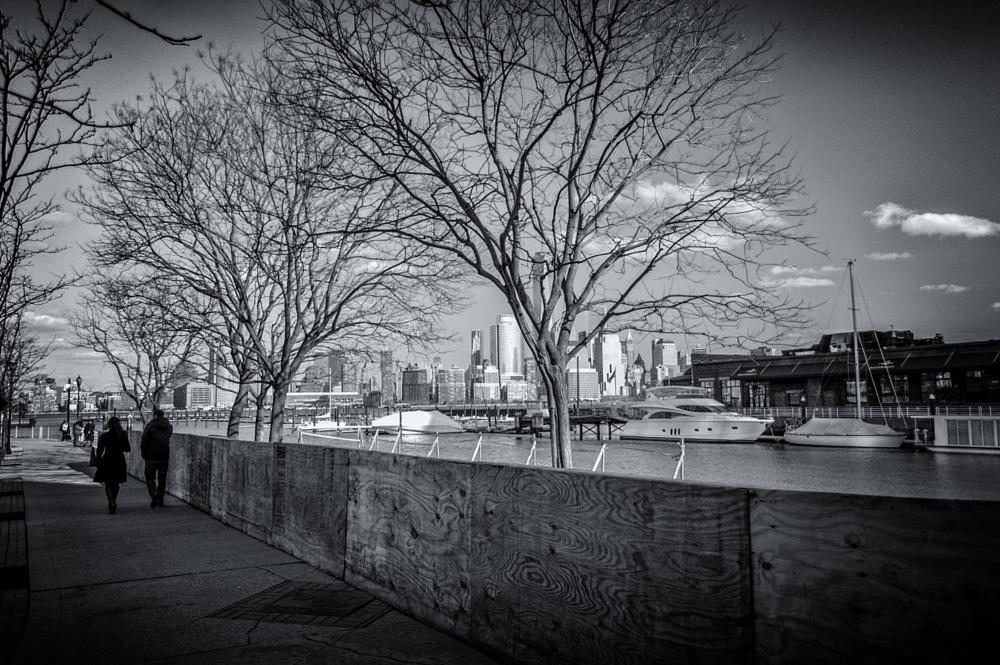 Photo in Street Photography #streetphotography #winter #boardwalk