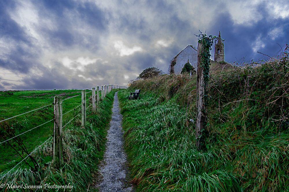 Photo in Landscape #cork #ireland #church #landscape #november