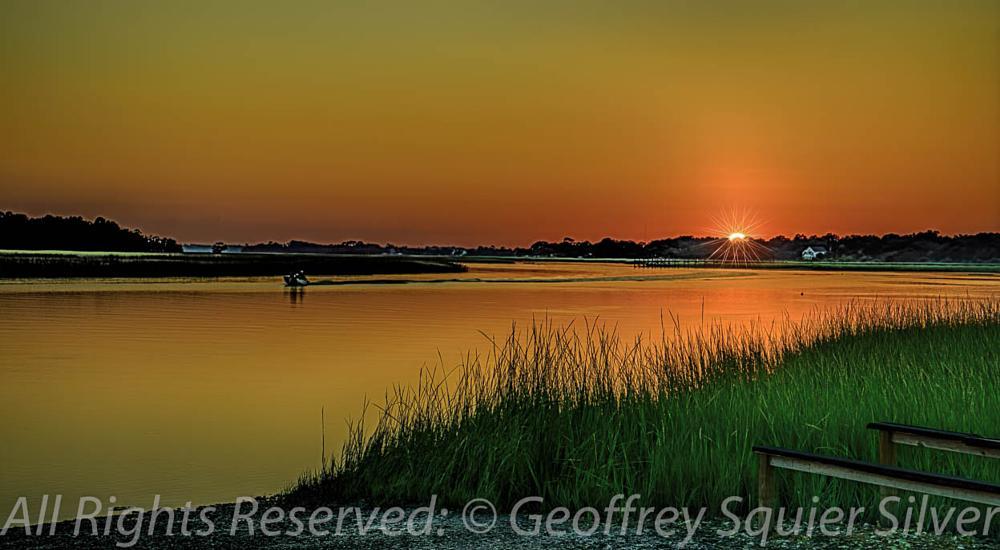 Photo in Landscape #sunset; nature; marsh