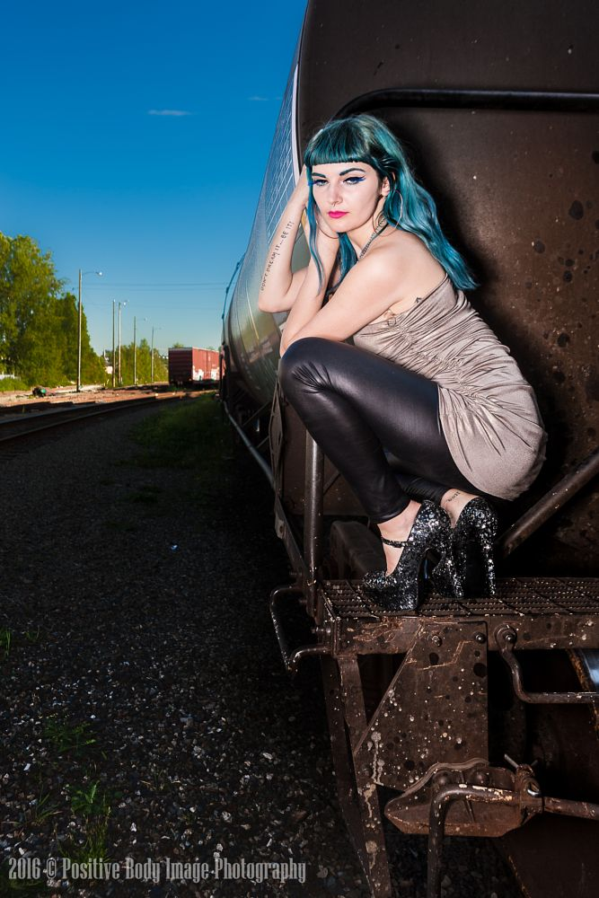 Photo in Portrait #train #model #vancouver