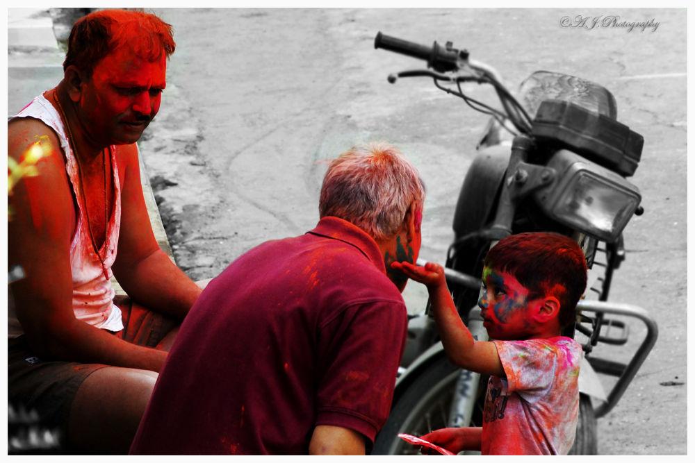 Photo in Street Photography #street photography #random #holi #festival #india #canon