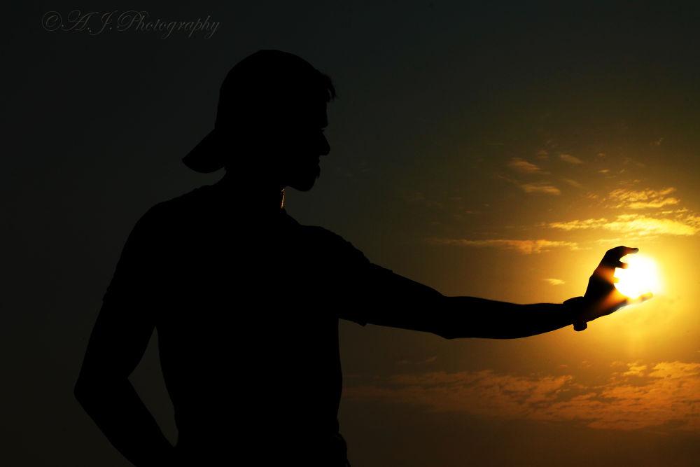 Photo in Random #silhouette #sky #sunset #canon #random #evening