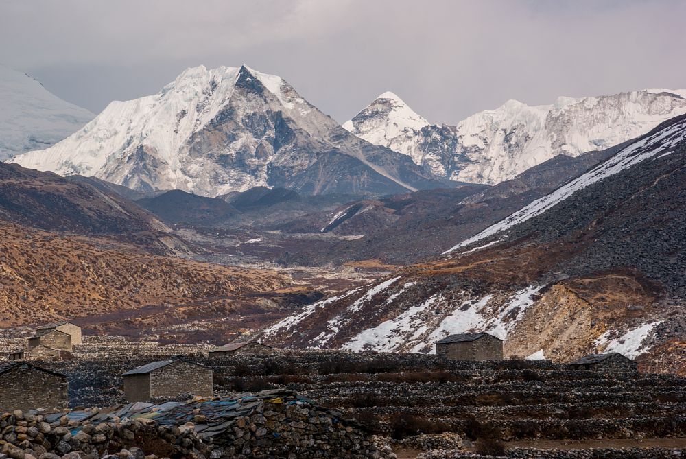Photo in Landscape #landscape #nature #nepal #dingboche #himalaya #himalayas #mountains #mountain #mount #peak #summit #snow #island peak