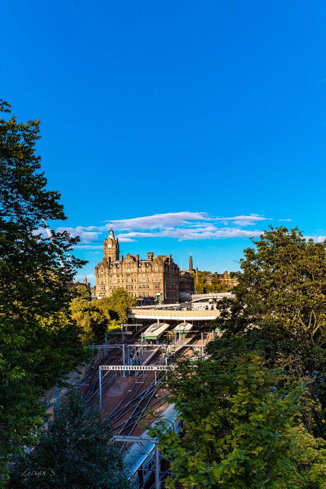 Photo in Landscape #train #edinburgh #scotland #travel #places #sky #art #architecture #canon5dm4 #creative #inspiration