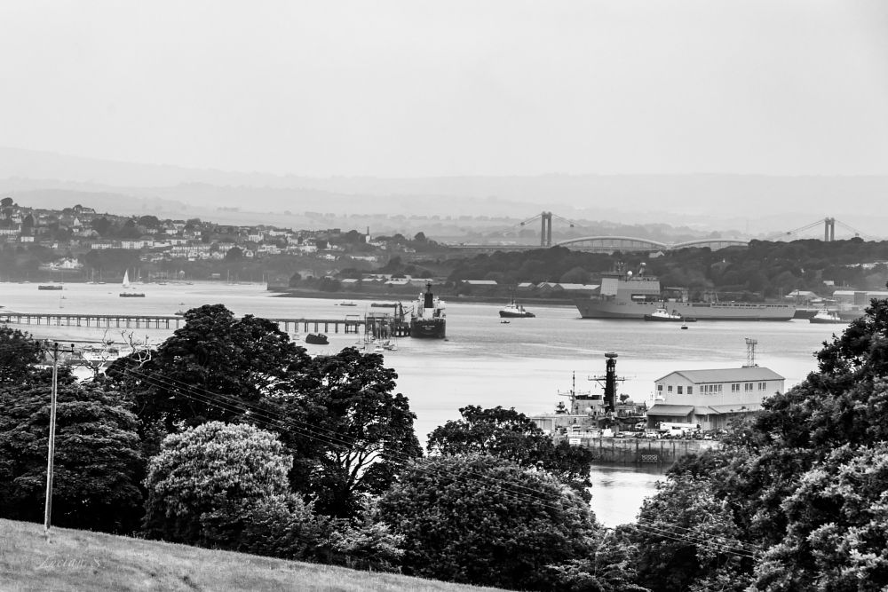 Photo in Landscape #plymouth #sea #places #travel #boats #landscape #canon5dm4 #black and white