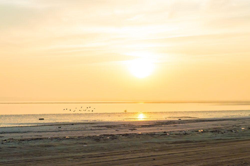Photo in Sea and Sand #travel #sky #yellow #sea #beach #qatar #zekreet
