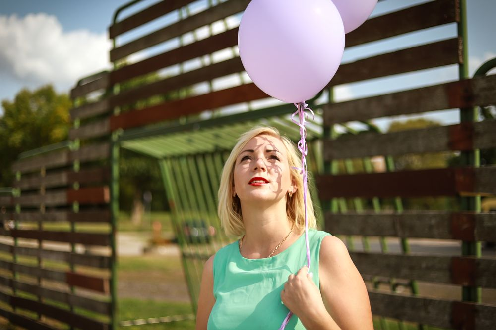 Photo in Random #women #ballon