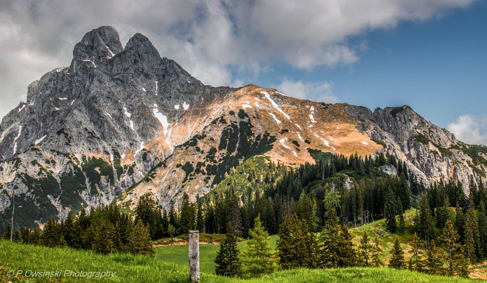 Photo in Landscape #mountain #landscape #sky #green #nature #peak